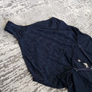 Gianni Bini Tops - GB Navy Blue Lace Bodysuit Size XL